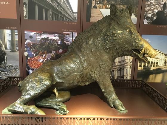 幸運の仔豚像 ポルチェリーノ 東京駅 八重洲地下街